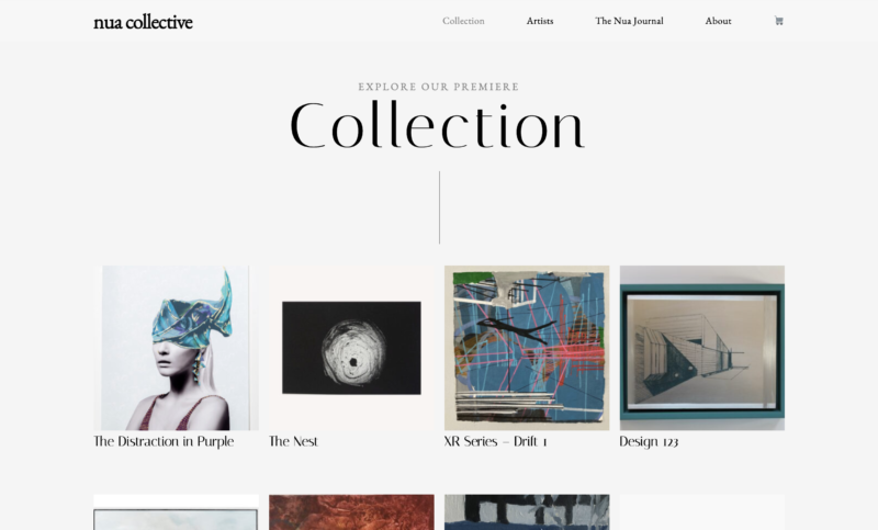 Nua Collective - Collection Page Design - Pinstripe Media